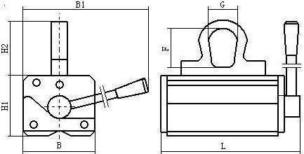 Engineering drawing for Armstrong lifting magnet NL-660B(2)