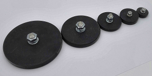 Rubber Covered Round Base Magnet
