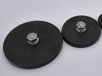 Rubber Covered Round Base Magnet RRB-S Series