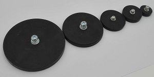 Rubber Covered Round Base Magnet T-Series