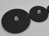 Rubber Covered Round Base Magnet RRB-T Series