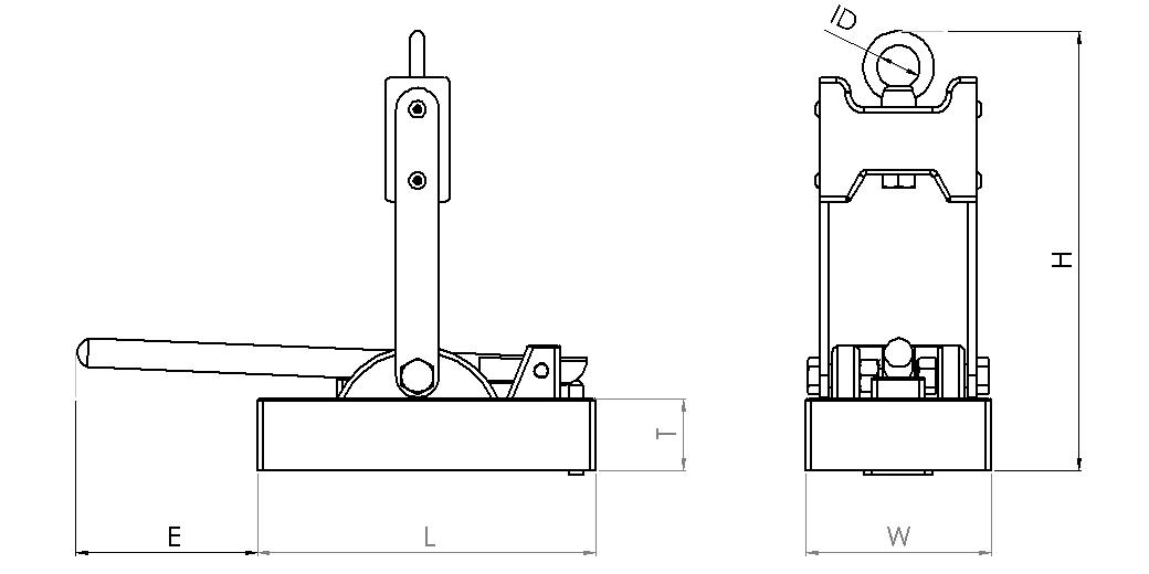 Engineering drawing for Armstrong Magnetics Magnetic Plate Lifter